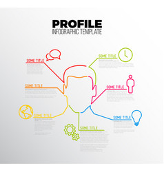 Infographic profile user template vector