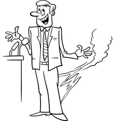 pants on fire saying coloring page vector image