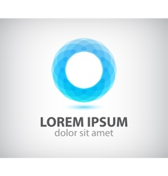 abstract circle loop icon logo isolated vector image