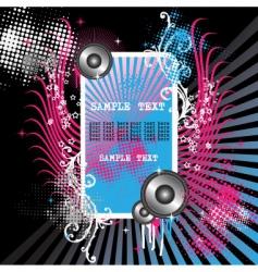 grunge musical illustration vector image