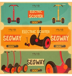 Segway retro vector