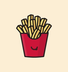 French fries potatoes icon vector