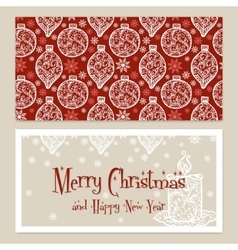 Merry christmas congratulations card with vector