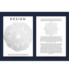 Magazine with silver mandala realistic brochure vector