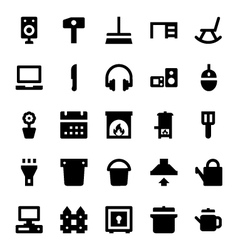 Home appliances icons 5 vector