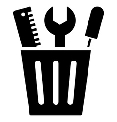 Tuning bucket flat icon vector