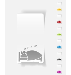 Realistic design element sleep vector