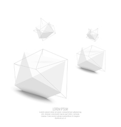Abstract polygonal geometric shape vector image