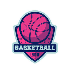 basketball league vintage isolated label vector image vector image
