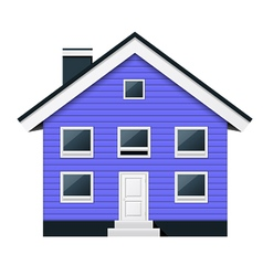 Blue scandinavian condominium - townhouse vector