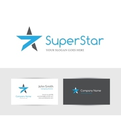 Blue star logo vector image vector image