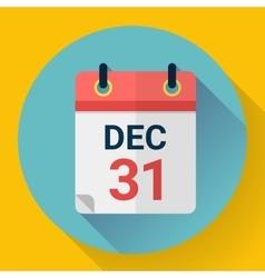 Calendar icon flat design vector