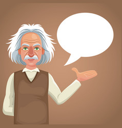Character scientist physical bubble speech vector