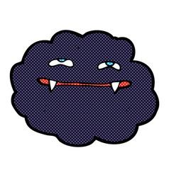 Comic cartoon vampire cloud vector