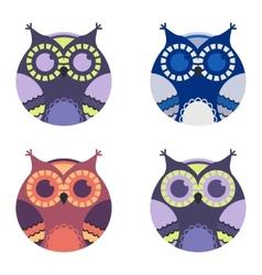 cute cartoon owls vector image vector image