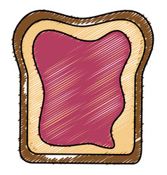 Delicious toast bread isolated icon vector