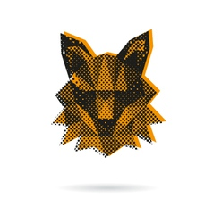 Fox head abstract isolated vector