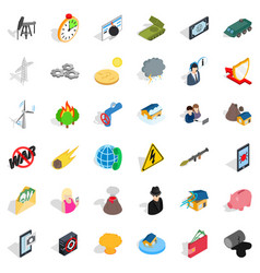Gadget icons set isometric style vector