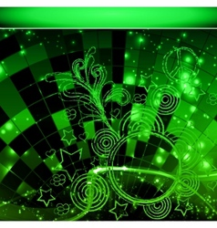 intensive green colors background - abstract vector image vector image