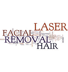 Laser facial hair removal is easy and effective vector