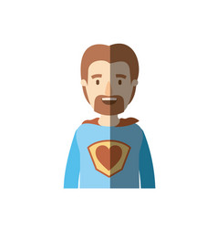 Light color shading caricature half body super dad vector