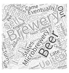 Microbrewery and america word cloud concept vector