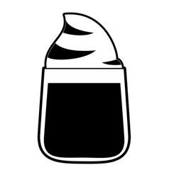 milkshake in glass icon image vector image vector image
