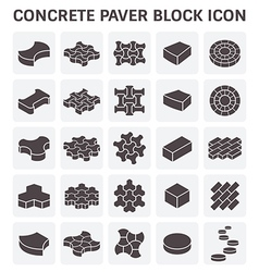 Paver block icon vector
