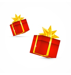 Red Present Box Gift Box Set vector image