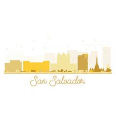 San salvador city skyline golden silhouette vector