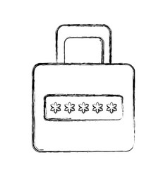 security web padlock vector image vector image