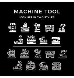 Set icons of machine tool vector image vector image