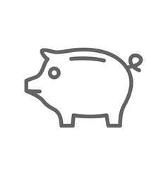 Simple piggy bank line icon symbol and sign vector