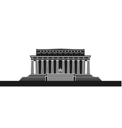The lincoln memorial vector