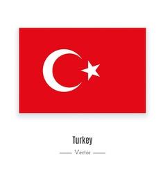Turkey flag icon vector