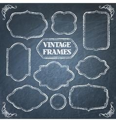 Vintage chalkboard frames set vector image