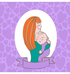 woman with a child vector image vector image