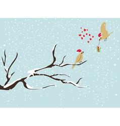 christmas bird vector image