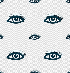 Eyelashes sign seamless pattern with geometric vector