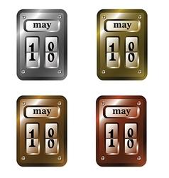 Metal calendar 001 1 vector