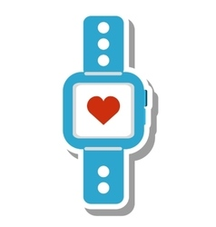 Smartwatch with cardiology app vector