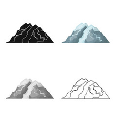 Ice mountain all the cracksthe mountain from vector
