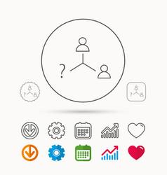 Vacancy or hire job icon teamwork sign vector