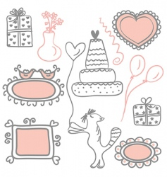 Holidays doodles vector