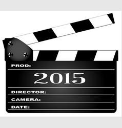 2015 clapperboard vector