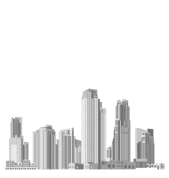 Set of skyscrapers with diverse architecture vector