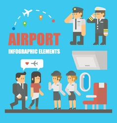 Flat design of airport infographic elements vector