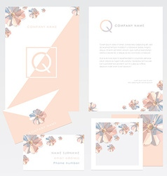 Company branding template vector
