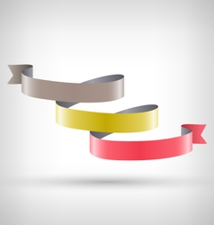 Infographic element curved ribbon on grayscale vector