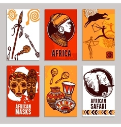Africa poster set vector